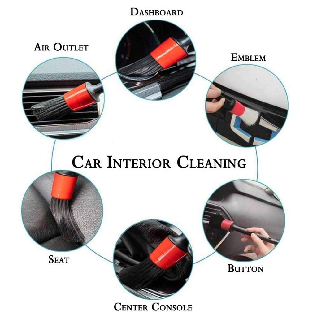 5pc Car Cleaning Tool Set Detail Brush