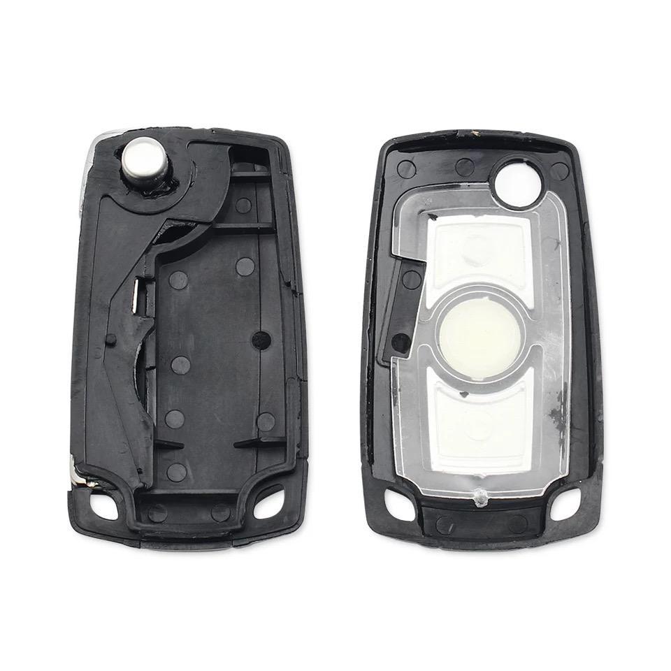 Modified Folding Remote 3 Buttton Key Case Cover For B.M.W