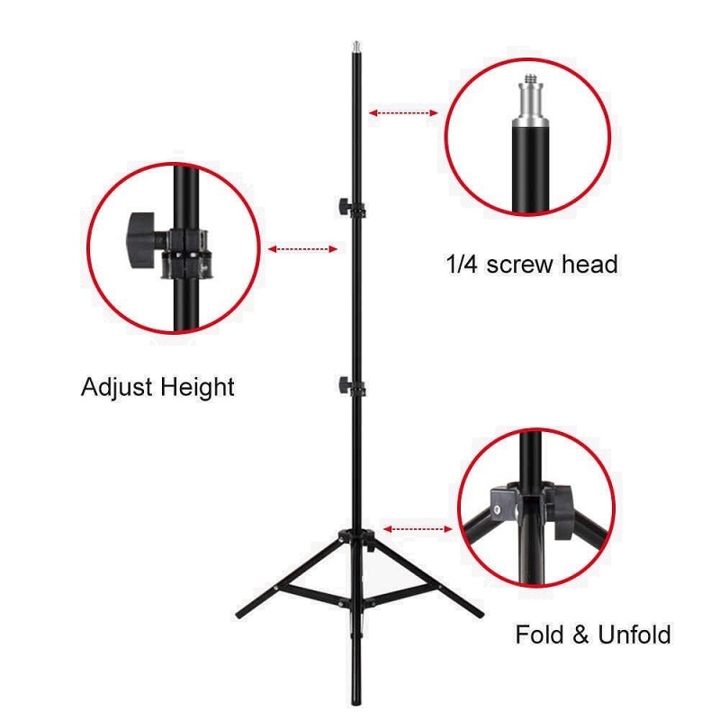 Flash Ring Light Tripod Stand 2.1m