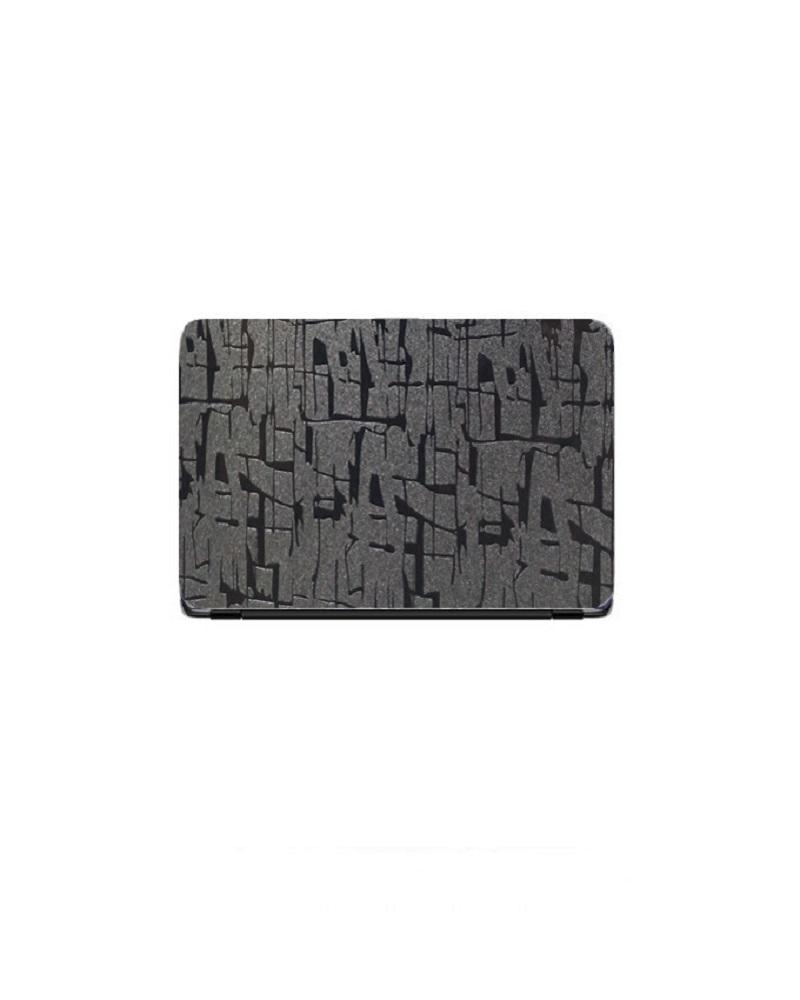 Universal Laptop Back Skin Scripture Texture - Black