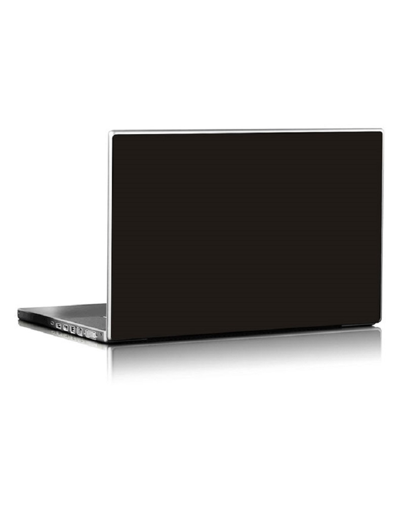 Universal Laptop Back Skin Matte Texture - Black