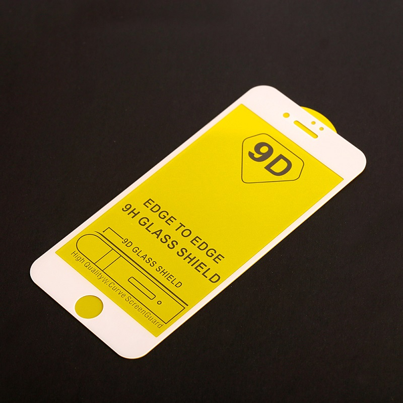 9D iPhone 7 & 8 Glass Screen Protector White