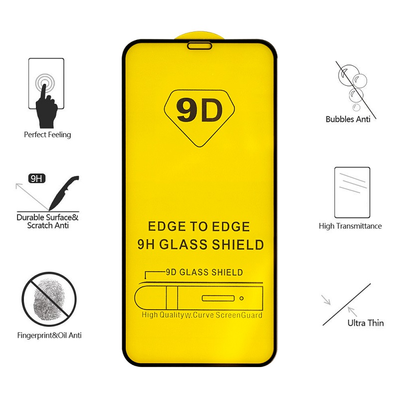 9D iPhone X & XS Glass Screen Protector