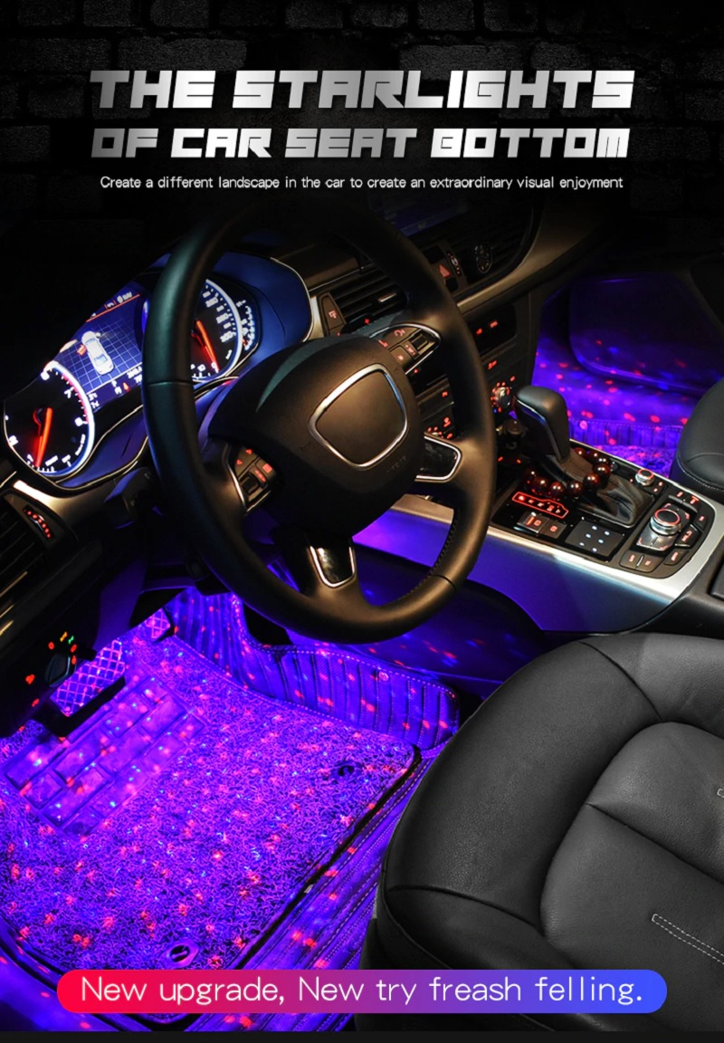 Car Interior Seat Bottom Decorative Music & Voice Control Light