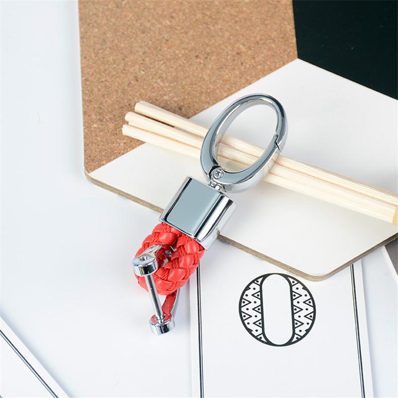 Hand Woven Horseshoe Buckle Keychain
