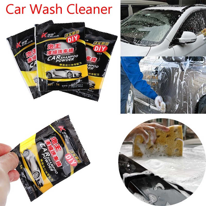 Pack Of 5 Car Wash Shampoo Powder Foam Cleaner