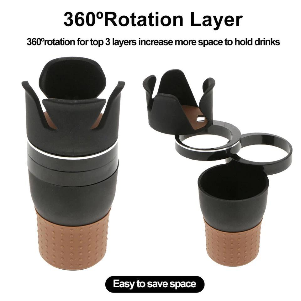 Universal Multi Function Rotatable Car Cup Holder