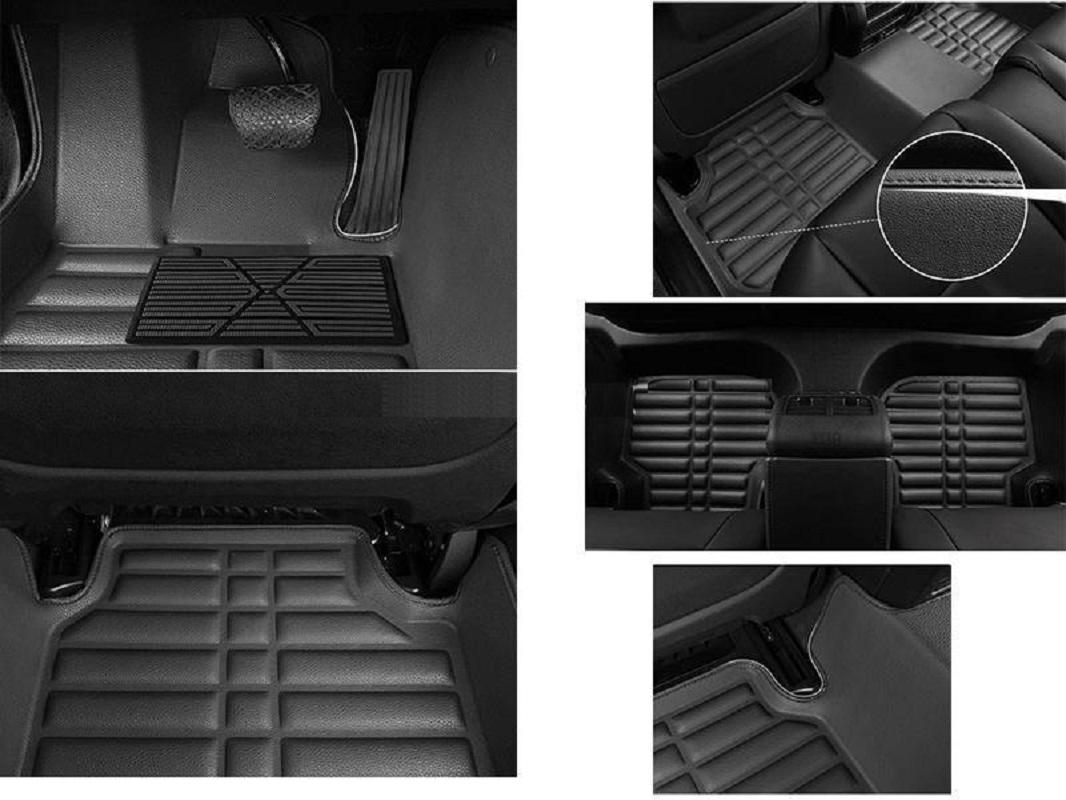 5D Custom Floor Mats Black For T.o.y.o.t.a P.r.a.d.o 2009-2020