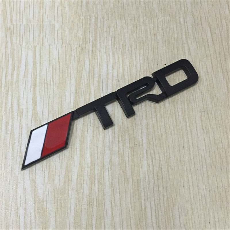 3D Metal TRD Logo Black