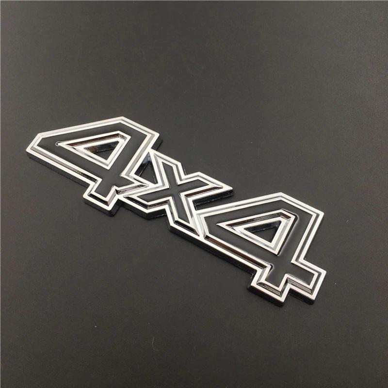 4x4 Metal Logo Car Rear Trunk Decals Sticker