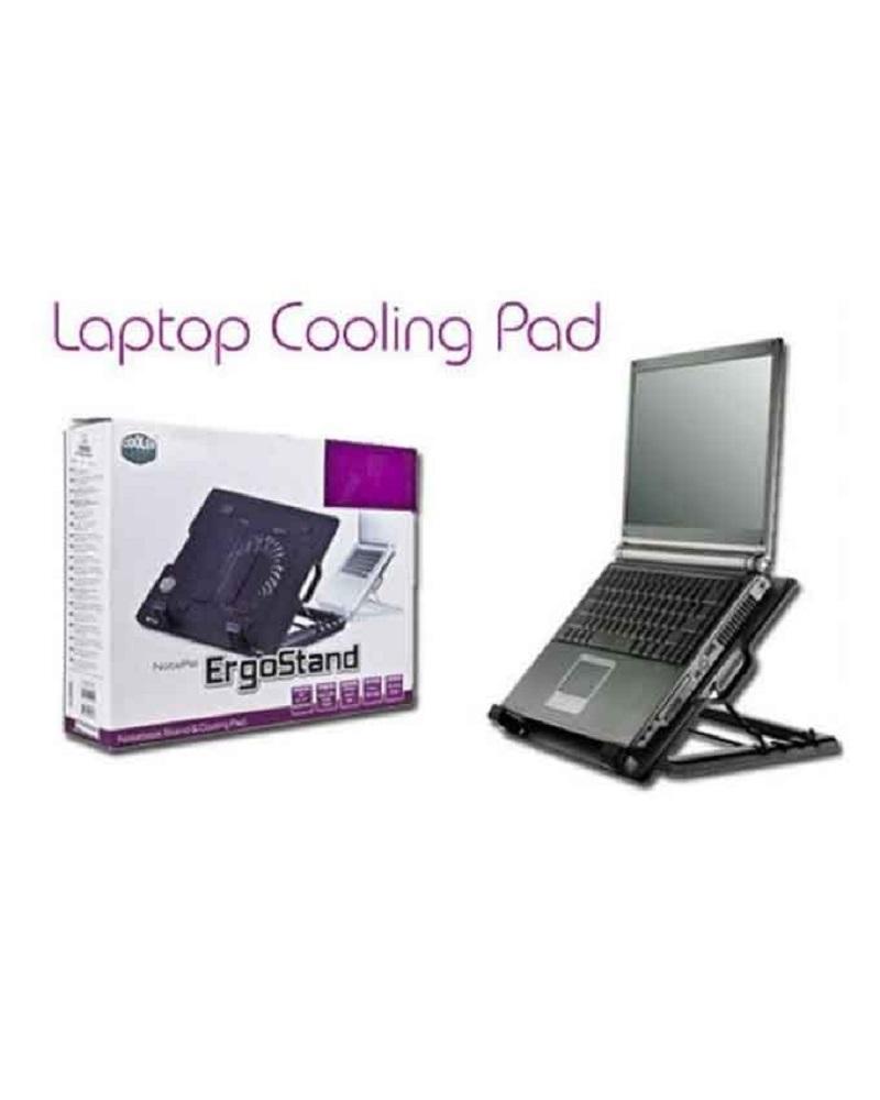 Adjustable Universal Laptop Cooling Pad Black