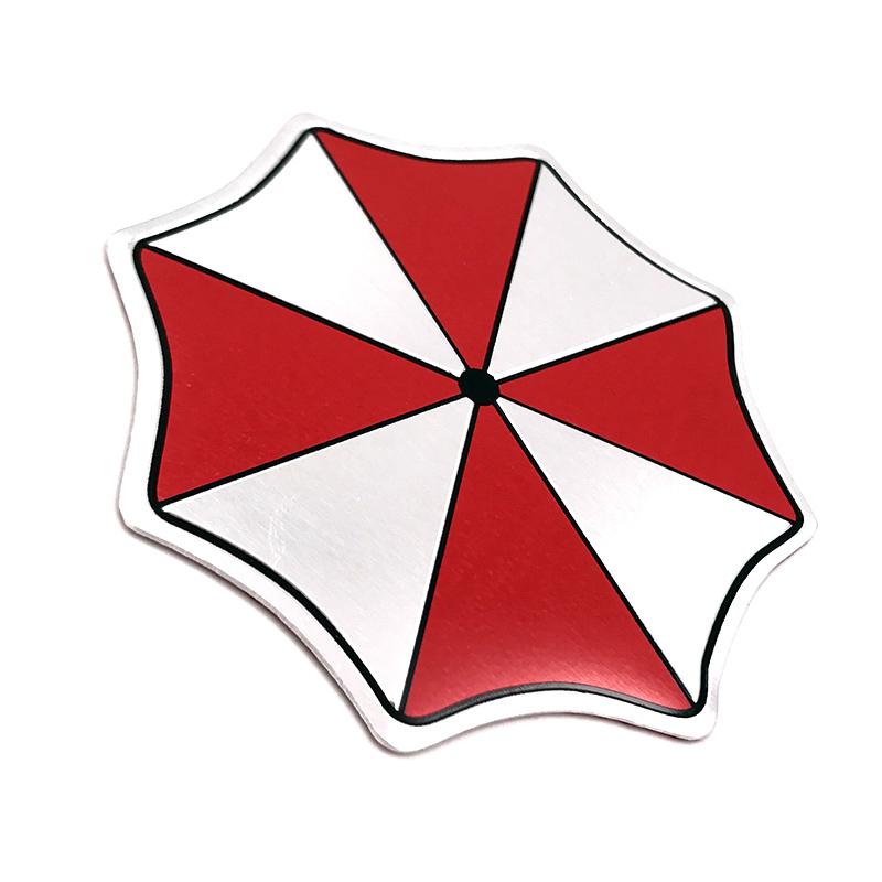 3D Aluminum Umbrella Corporation Car Logo Resident Evil