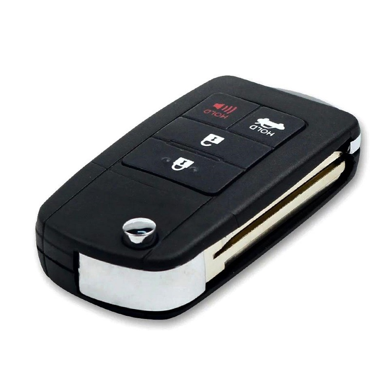 4 Button Modified Flip Folding Remote Key Shell For TOYOTA