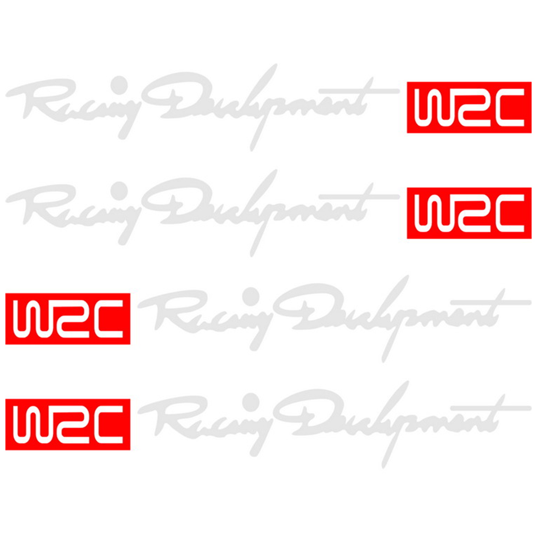4pcs/set WRC Racing Door Handle Stickers