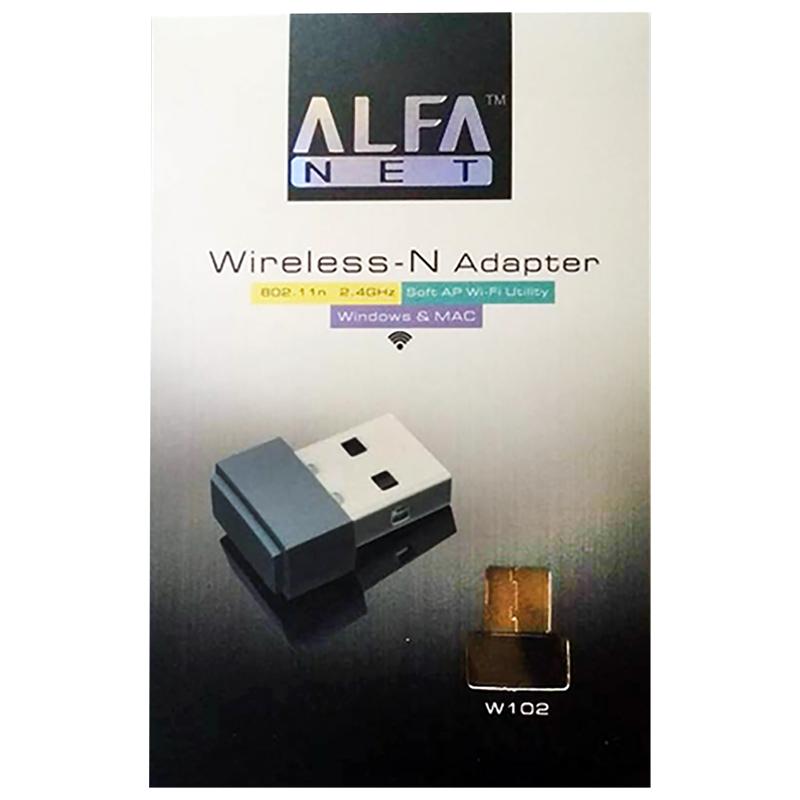 W102 ALFA WIRELESS N ADAPTER 150MBPS (ORIGNAL)