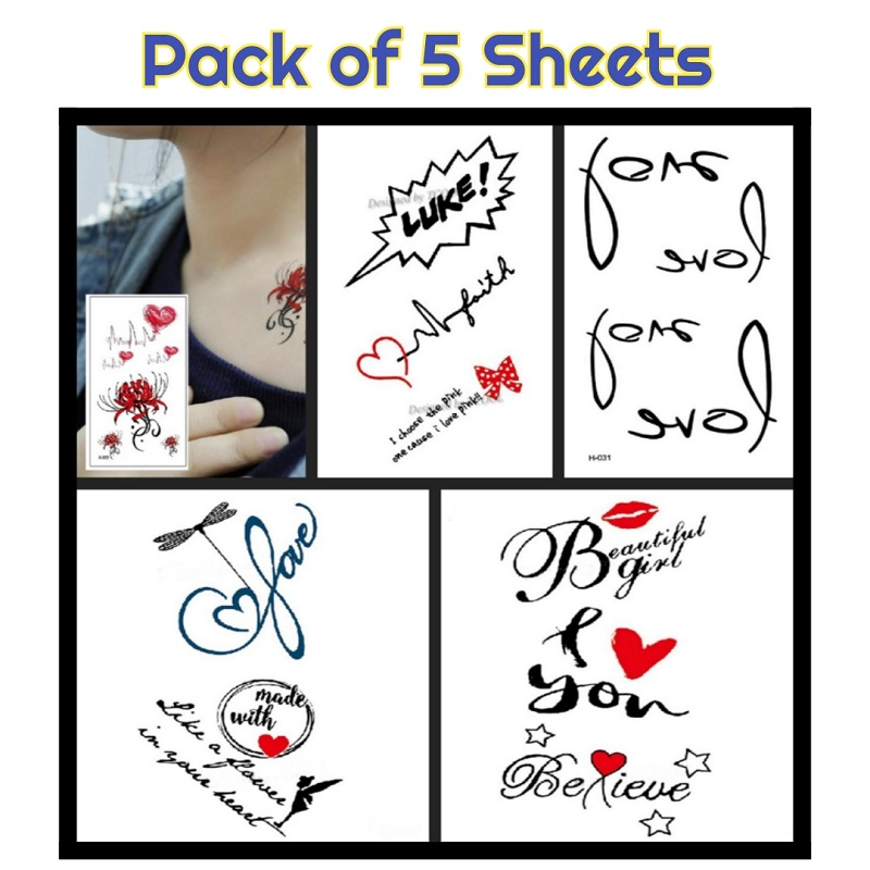 Pack of 5 Tattoos Sheets Deal 2