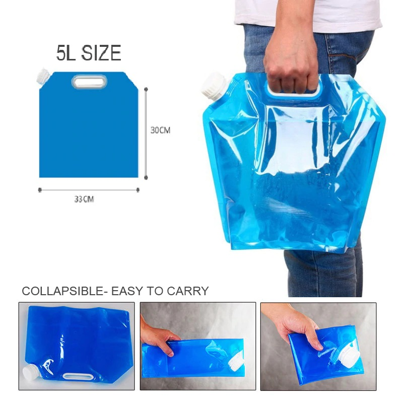 5Litre Soft Foldable Water Storage Bottle