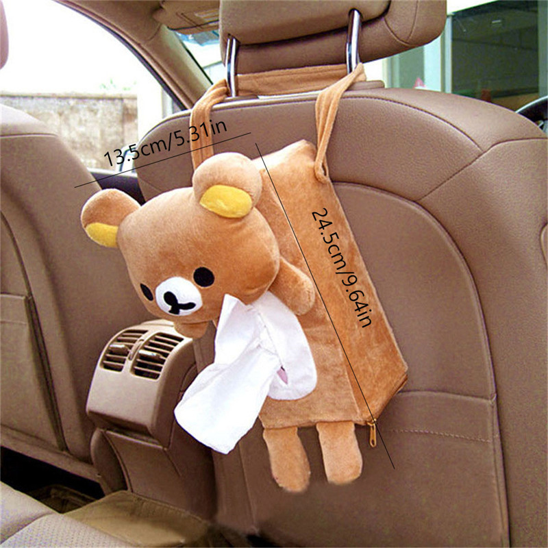 Car Bear Hanging Tissue Box