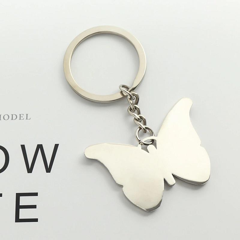 Butterfly Shape Metal Keychain