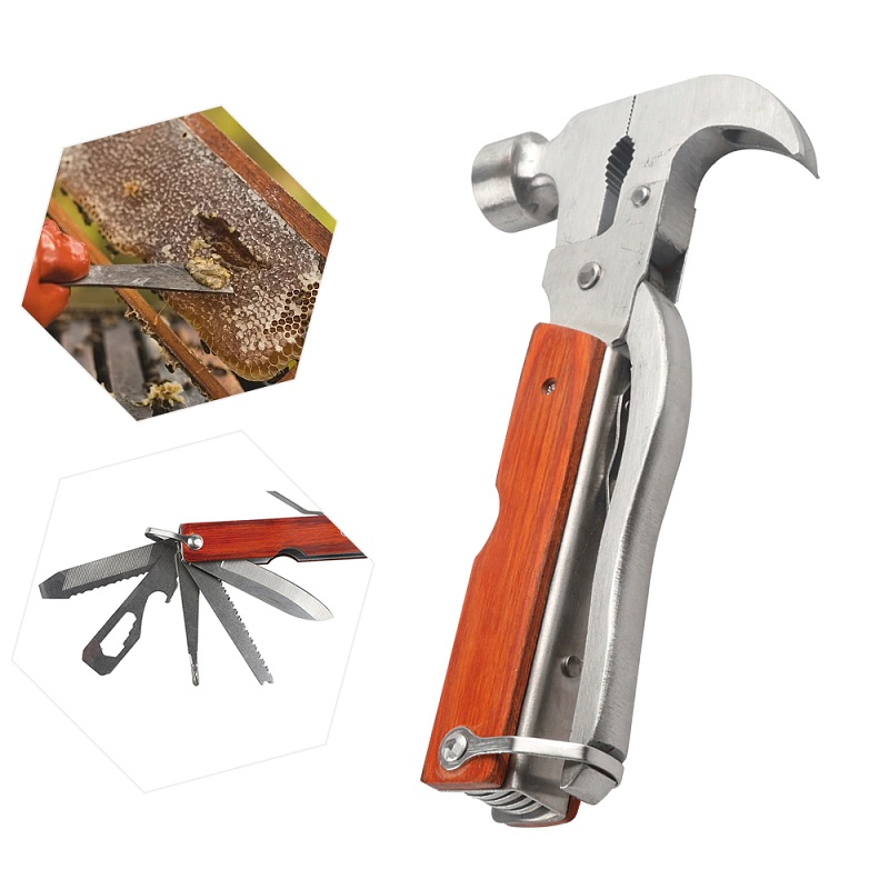 Multi-functional Bee Hive Tool Combination Claw Hammer