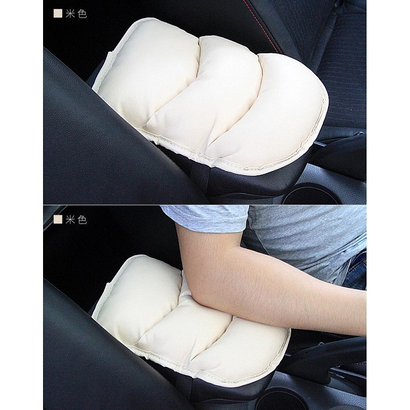 Universal Car Center Armrest Soft Cushion Pad Beige