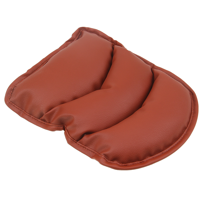 Universal Car Center Armrest Soft Cushion Pad Brown