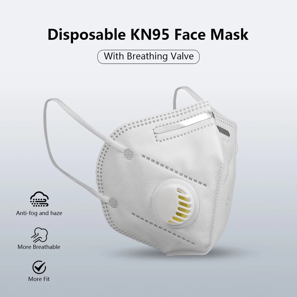 Pack Of 5 Face Mask With Valve