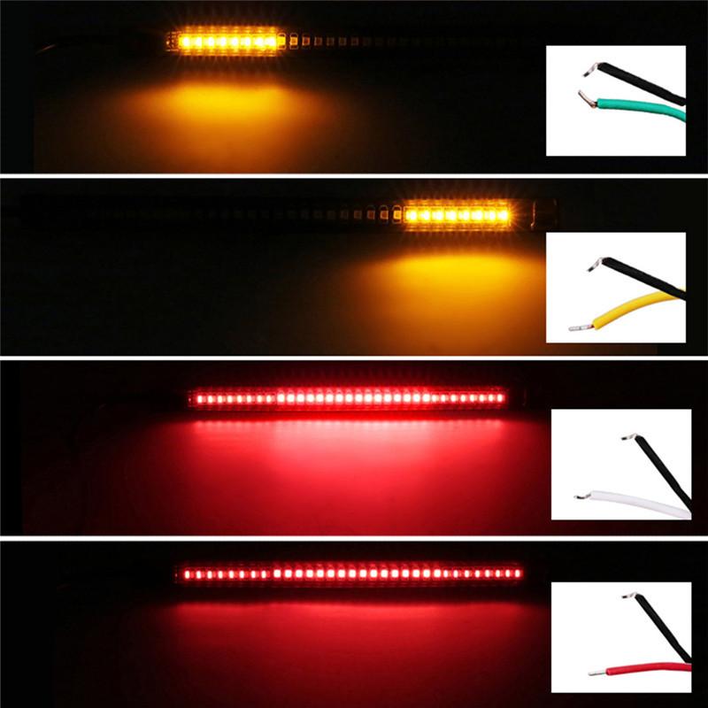 Pack Of 2 LED Lights Motorcycle Lights Brake Lights Turn Waterproof