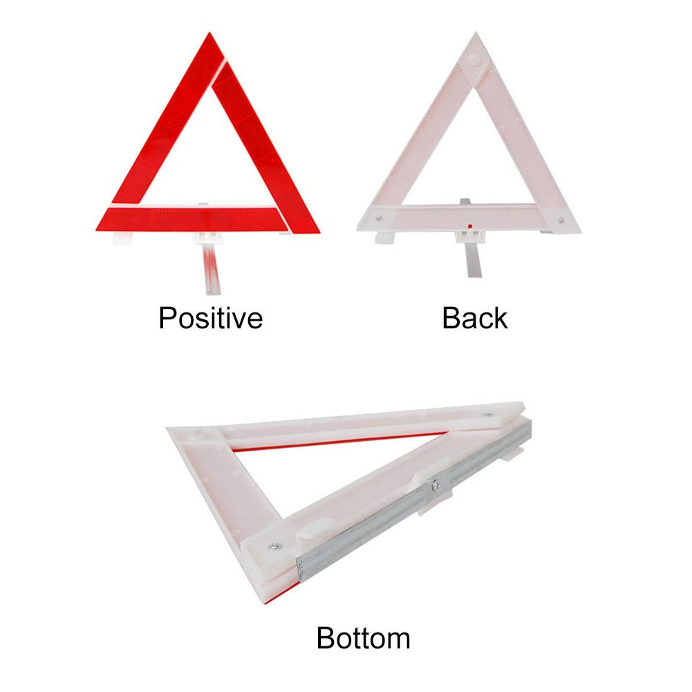 Reflective Triangle Safety Warning Sign