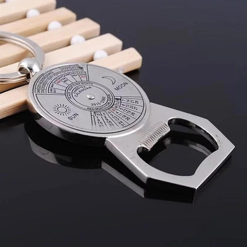 New Unique Creative 50 Years Calendar Key Chain With Bottle Opener Ring