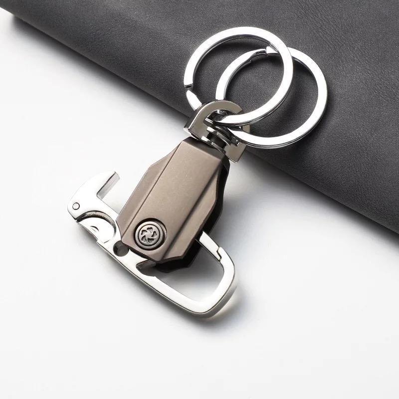 Double Ring Lock Metal Key Chain
