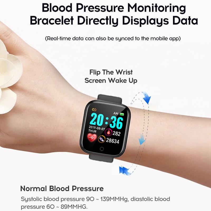 D20 Fitness Bracelet Blood Pressure Bluetooth Heart Rate Monitor