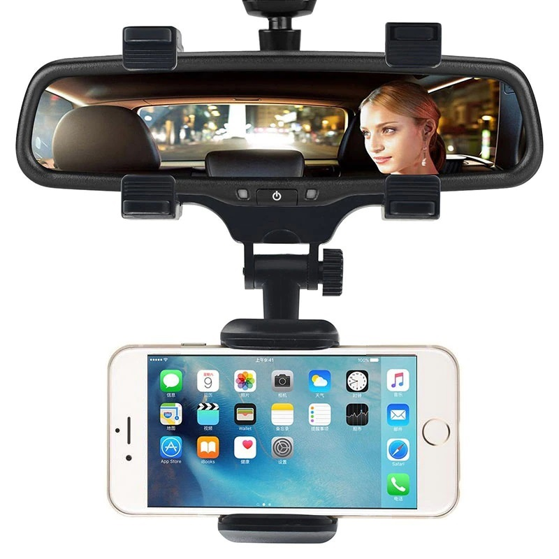 Universal Car Rearview Mirror Phone Holder