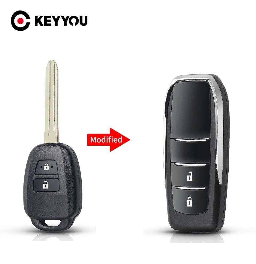 Modified Flip Key Fob Case for T.o.y.o.t.a