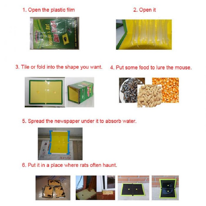 3 Pc Sticky Trap Board For Rats & Mouse