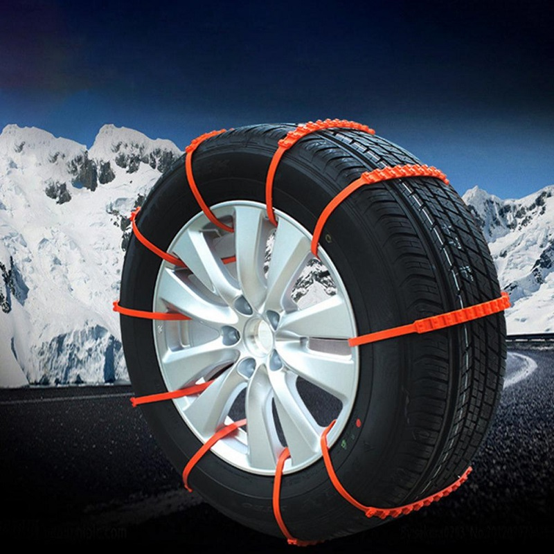 Pack Of 10 Anti-Skid Emergency Snow Wheel Chain