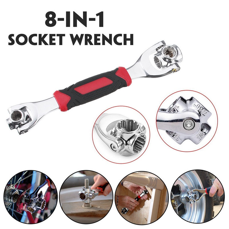 8 in 1 Dual Head Multi Function Universal Socket Wrench