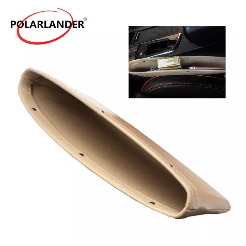1 Pc PU Leather Car Seat Gap Storage Organizer
