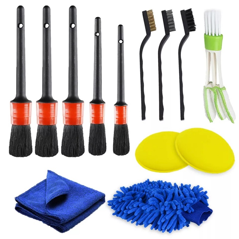 Pack Of 13 Car Cleaning Set
