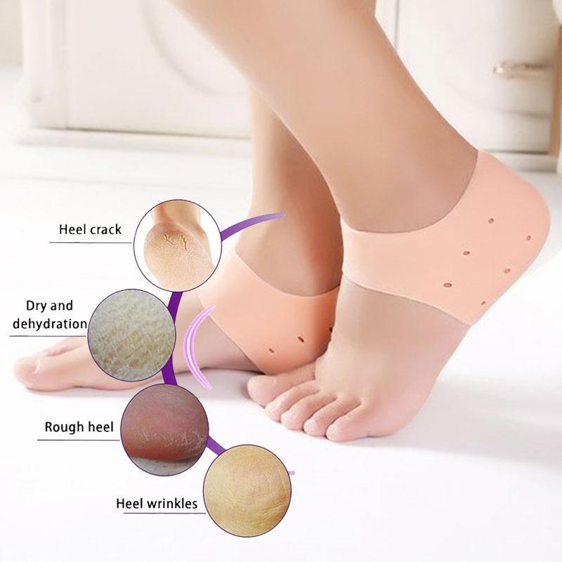 3 pairs Soft Silicone Heel Anti Crack Care Set