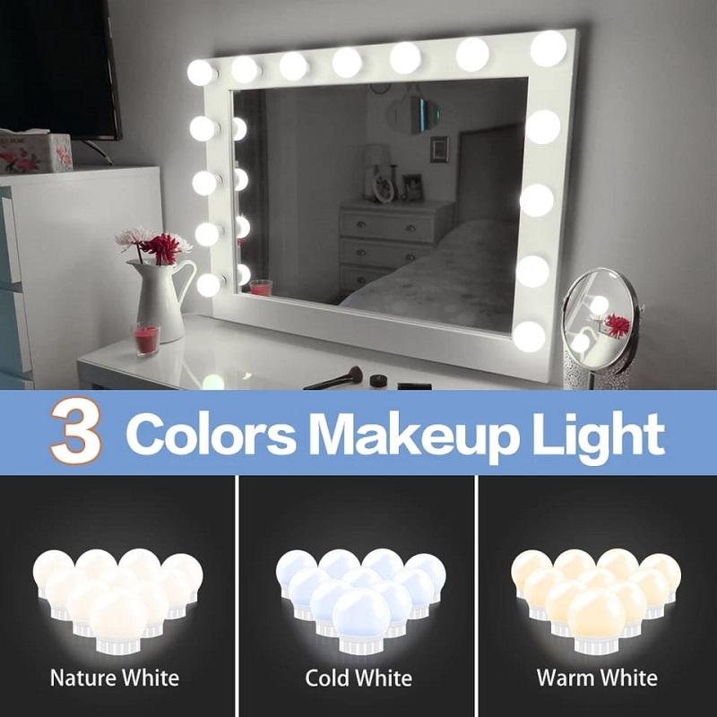3 Modes LED Makeup Mirror Light