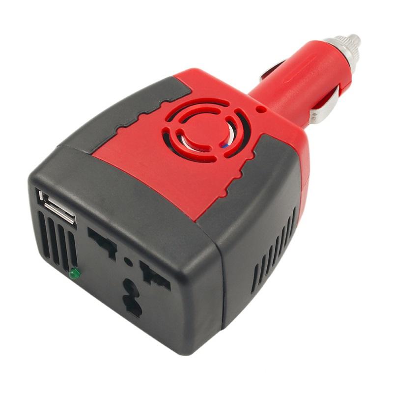 Car inverter DC 12V to AC 220V 75W Power Inverter Adapter USB
