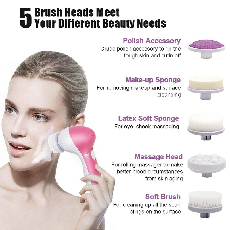 5 in 1 Waterproof Face Cleansing Massager