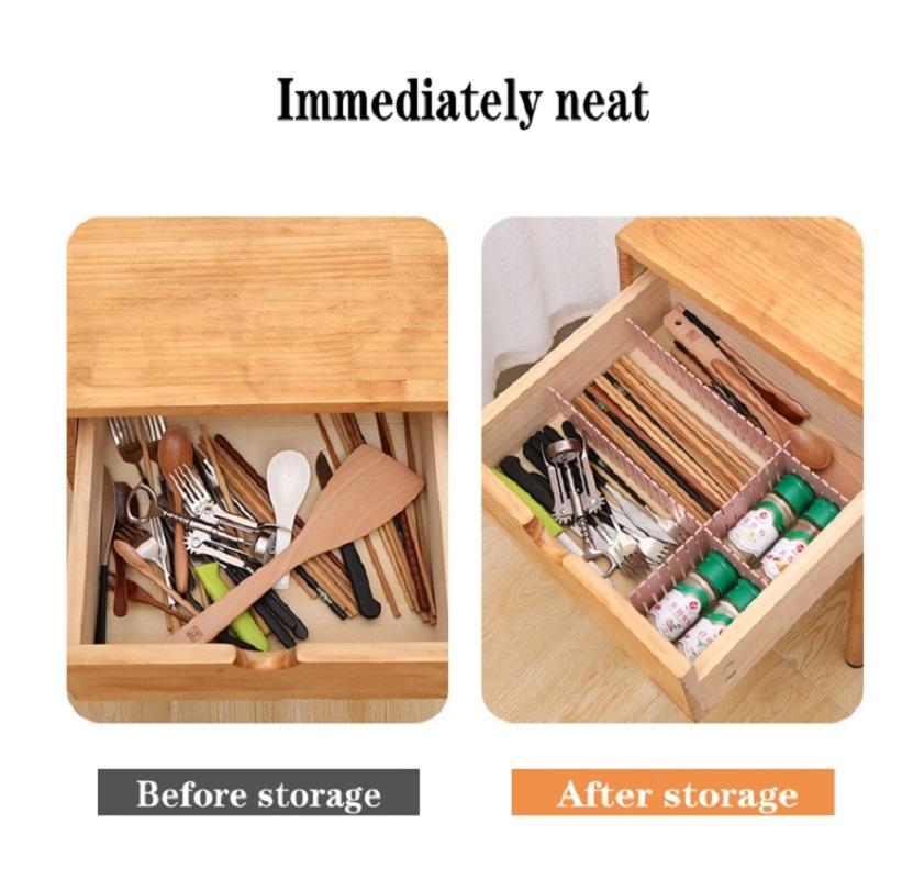8Pcs Adjustable Drawer Storage Organizer