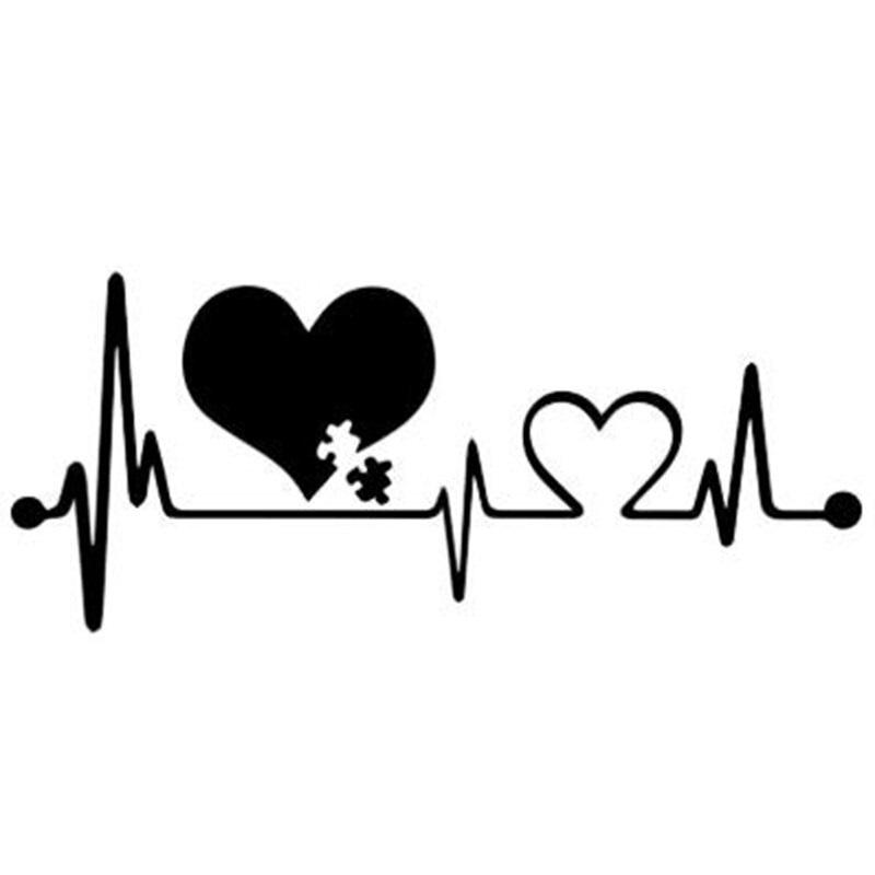 Heartbeat Lifeline Monitor Screen Car Sticker Black
