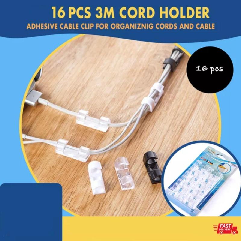 16 Pcs Cable Organizer Clips