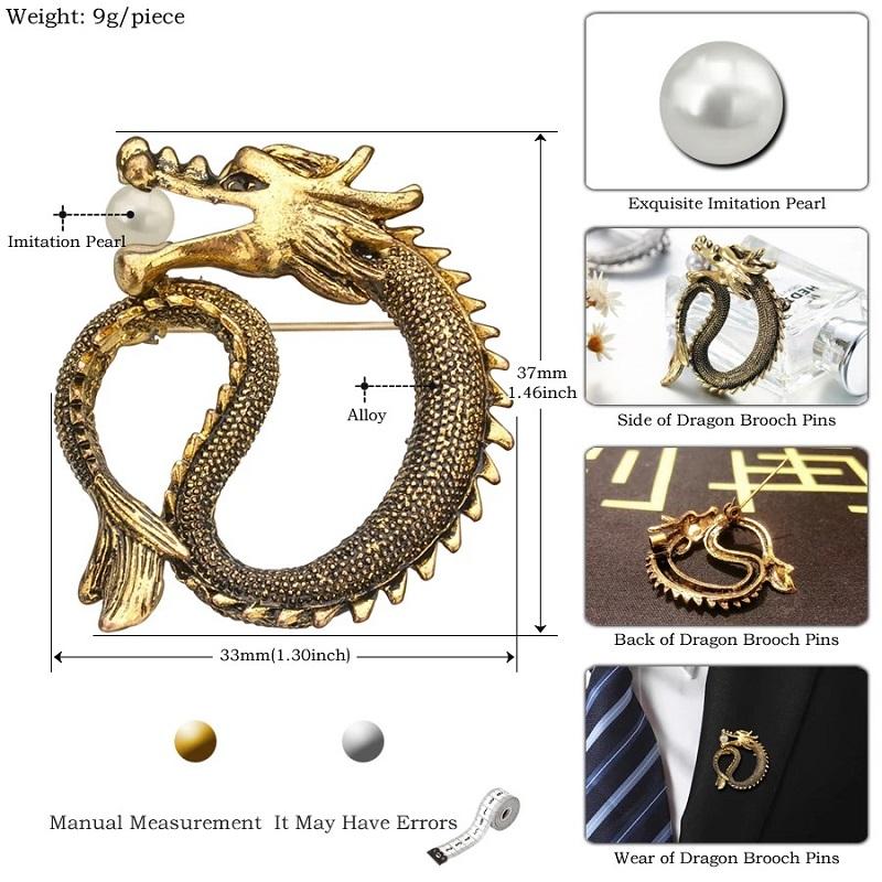 Creative Design Retro Dragon Brooch