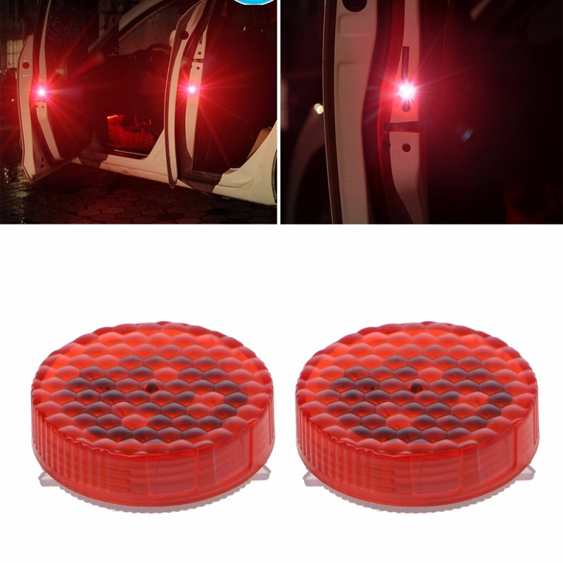 1 Pair Universal Waterproof Wireless Car Door LED Safety Warning Light