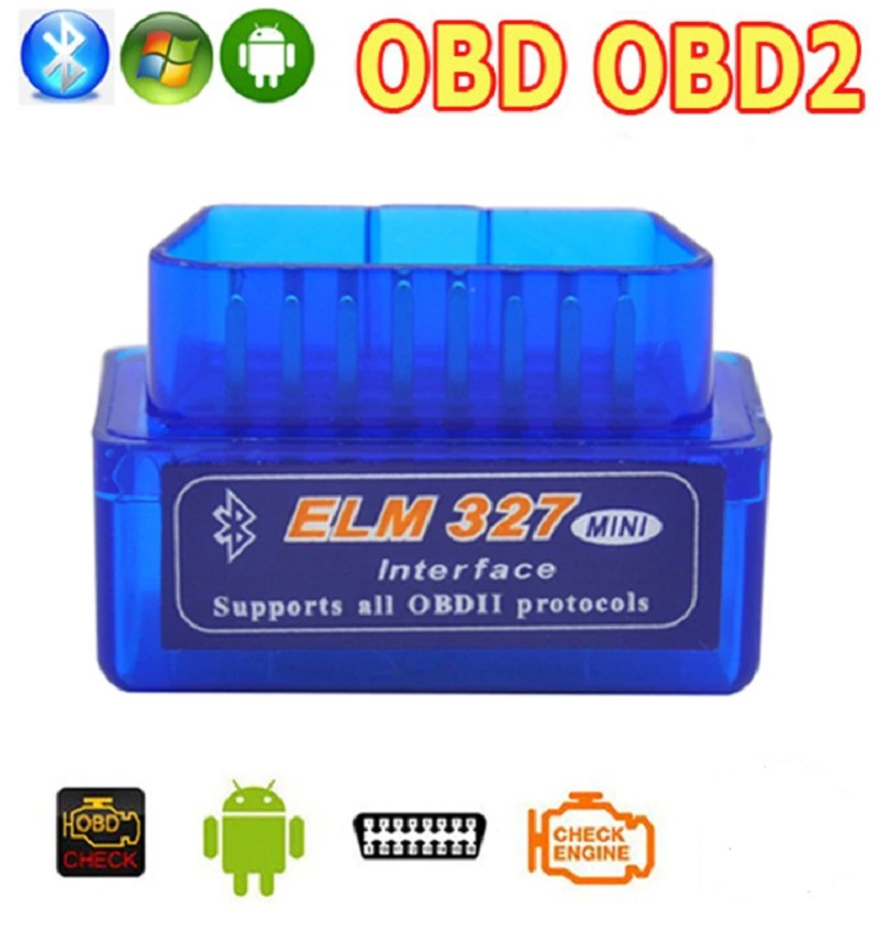 Super Mini ELM 327 Bluetooth V 2.1 OBD2 Diagnostic Scanner Tool
