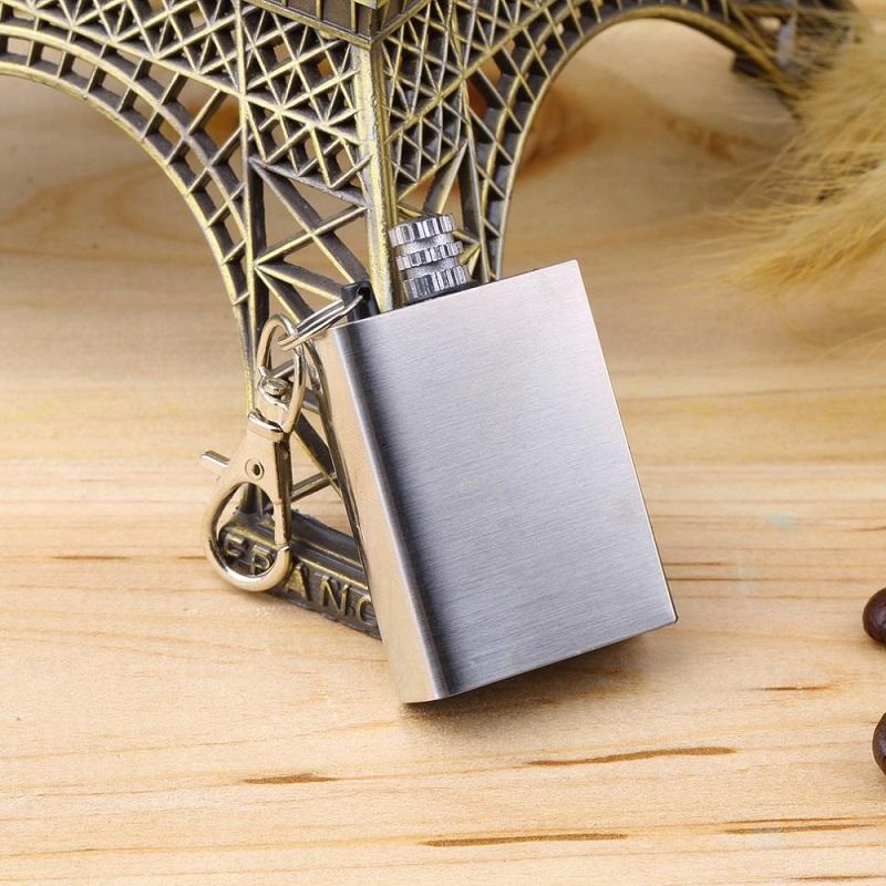 Fire Starter Flint Match Lighter Metal Key Chain